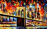Leonid Afremov BROOKLYN BRIDGE painting