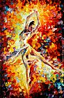 Leonid Afremov CANDLE FIRE painting