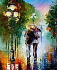 Leonid Afremov GONE WITH THE RAIN painting
