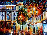 Leonid Afremov LONLEY COUPLES painting