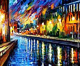 Leonid Afremov SLOW RIVER painting