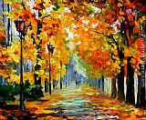 Leonid Afremov SUNNY OCTOBER painting