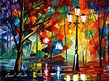 Leonid Afremov THE SOUL OF THE PARK painting