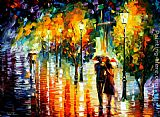 Leonid Afremov TWO COUPLES painting