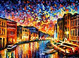 Leonid Afremov VENICE - GRAND CANAL painting