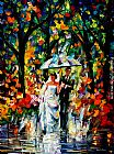 Leonid Afremov WEDDING UNDER THE RAIN painting
