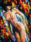 Leonid Afremov WILD CAT painting