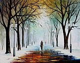 Leonid Afremov WINTER MOOD painting