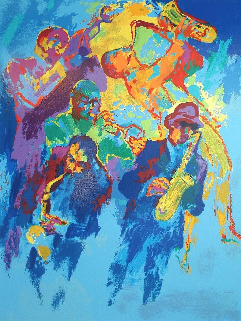 Leroy Neiman Jazz Horns