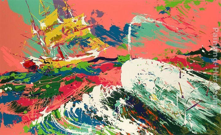 Leroy Neiman Moby Dick Assaulting the Pequod Moby Dick Suite