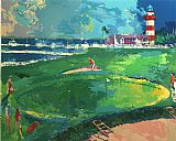 Leroy Neiman 18th at Harbourtown painting