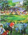 Golf paintings - 18th at Valhalla by Leroy Neiman