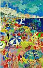 Leroy Neiman Beach at Cannes painting