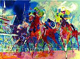 Horse Racing paintings - Churchill Downs by Leroy Neiman