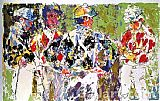 Leroy Neiman Four Jockeys painting