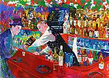 Leroy Neiman Frank at Rao's painting