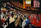 Leroy Neiman International Horse Show New York painting