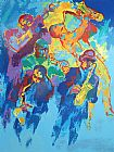 Leroy Neiman Jazz Horns painting