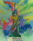 Leroy Neiman Lady Liberty painting