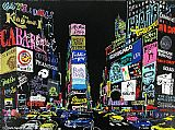 Leroy Neiman Lights of Broadway painting