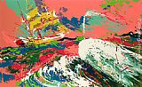 Leroy Neiman Moby Dick Assaulting the Pequod painting