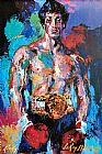 Impressionist paintings - Rocky Balboa by Leroy Neiman