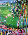Leroy Neiman Ryder Cup detail painting