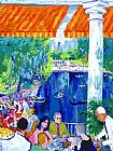 Leroy Neiman The Boathouse, Central Park painting