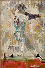 Leroy Neiman Willie Mays b painting