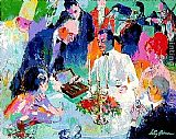 Leroy Neiman Wine, Women and Cigars painting