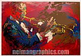 Leroy Neiman the jazz player painting
