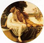 Lord Frederick Leighton Acme and Septimus painting