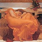 Lord Frederick Leighton Leighton Flaming June painting