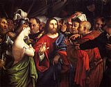 Lorenzo Lotto Christ And The Adulteress painting