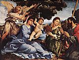 Lorenzo Lotto Madonna and Child with Saints and an Angel painting