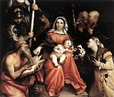Lorenzo Lotto Mystic Marriage of St Catherine painting