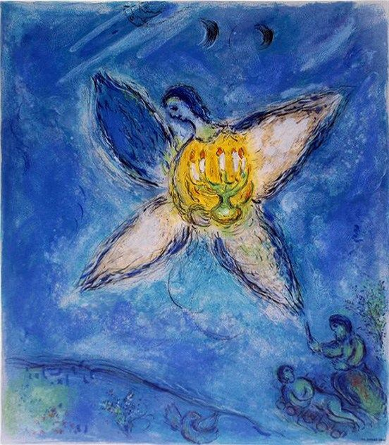 Marc Chagall Angel with Candlestick