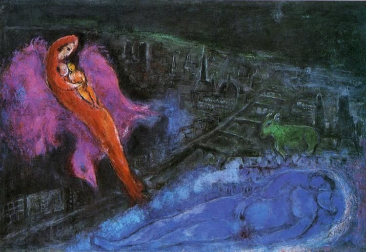 Marc Chagall Bridges over the Seine