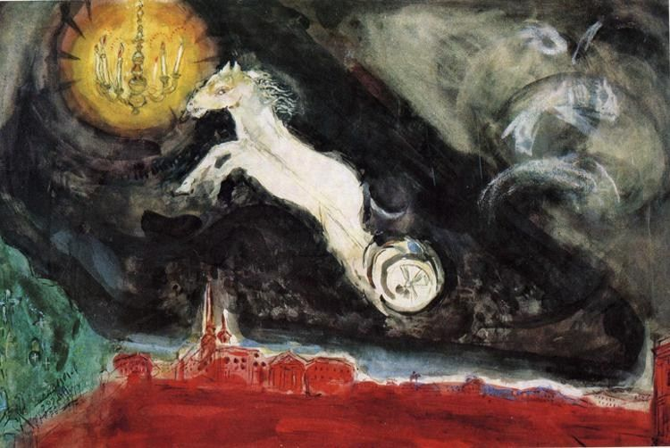 Marc Chagall Scene design for the Finale of the Ballet Aleko
