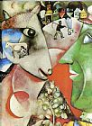 Marc Chagall I and the Village painting