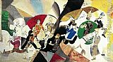 Marc Chagall Intro to the Yiddish Theatre painting