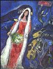Marc Chagall La Mariee painting
