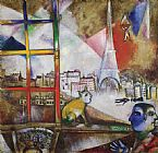 Marc Chagall Paris Through the Window painting