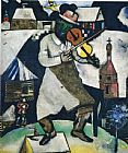 Marc Chagall The Fiddler painting