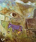 Marc Chagall The House with the Green Eye painting