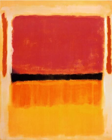 Mark Rothko Untitled Violet Black Orange Yellow on White and Red 1949