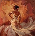 Dancer paintings - Pure Elegance by Mark Spain