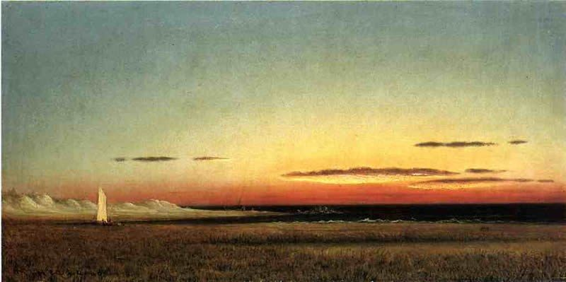 Martin Johnson Heade Marsh Scene at Dusk