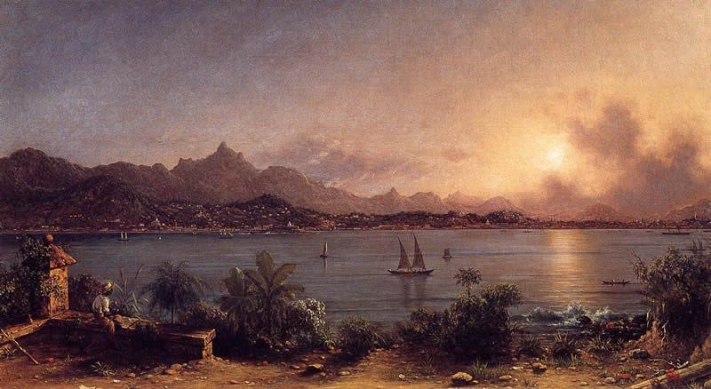 Martin Johnson Heade The Harbor at Rio de Janiero