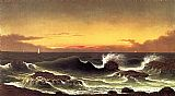 Martin Johnson Heade Seascape, Sunrise painting